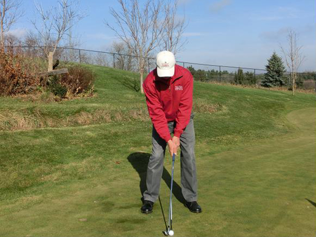 Front View Gary Kent Golf Swing lesson